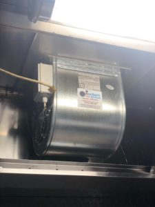 Commercial kitchen exhaust fan replacement.